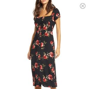 BP x Claudia Sulewski floral button front dress